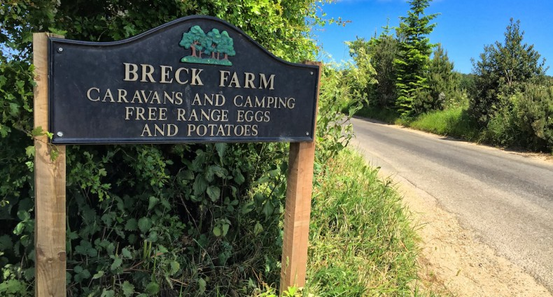 Arriving at Breck Farm