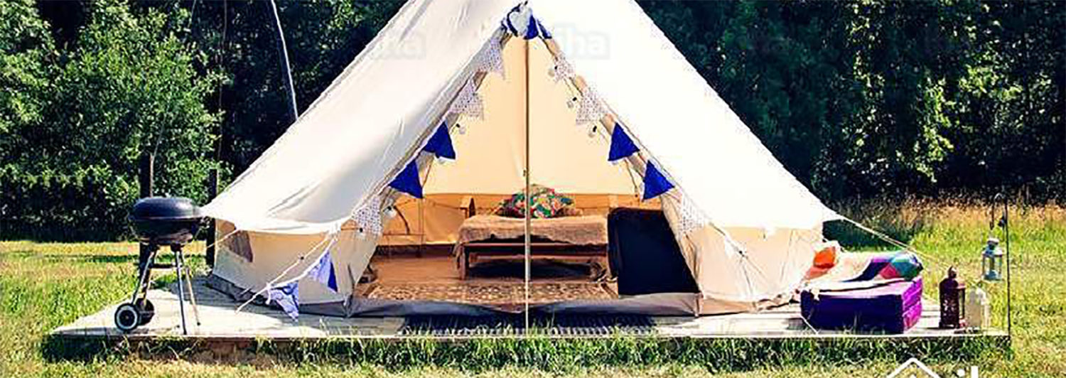 Bell tents at Breck Farm (temp image)